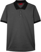 Hugo Chevron-print Cotton Polo Shirt