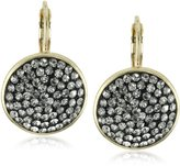 RAIN Round Crystal and Gold Drop Earrings