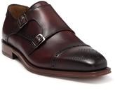 Antonio Maurizi Leather Brogue Cap Toe Monk Strap Shoe