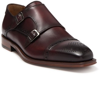 Antonio Maurizi Leather Cap Toe Double Monk Strap Loafer