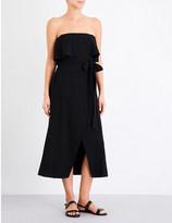 Vix Solid linen-blend dress