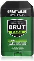 Brut Antiperspirant Deodorant Twin-Pack, Classic, 2 Count (Pack of 6)