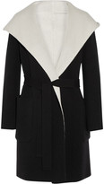 Max Mara Reversible Hooded Wool Coat - Black