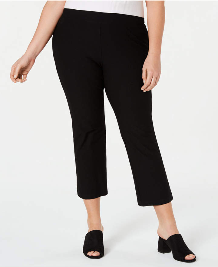 21c575edae4 Black Flare Pants Plus Size - ShopStyle