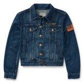 Ralph Lauren Embellished Trucker Jacket Bruno Wash S