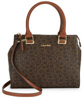 Calvin Klein Faux Leather Monogram Dome Satchel