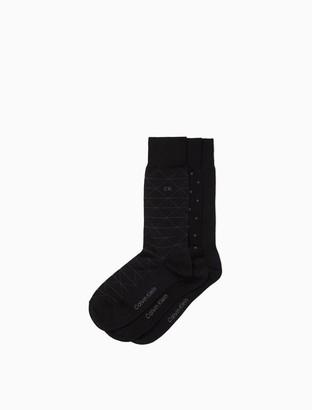 Calvin Klein 3 Pack Geometric Dress Socks