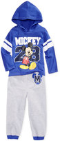 Disney Mickey Mouse Print Shirt & Pants Set, Toddler & Little Boys (2T-7)