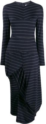 Chalayan striped asymmetric sweater dress