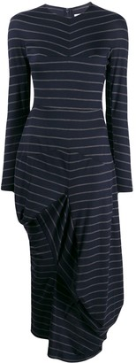 Chalayan Striped Asymmetric Sweater Dress