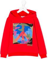 Moschino Kids peace logo hoodie