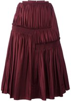 Nina Ricci pleated A-line skirt - women - Silk - 38