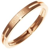 Gucci 750 Rose Gold Ring Size 5