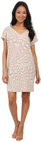 Maggy London African Puzzle Printed Crepe Wedge Dress