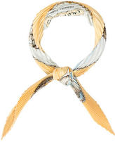 Hermes Gronland Silk Plissé Scarf