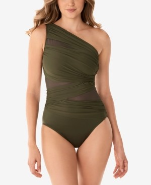Miraclesuit Network Jena One-Shoulder Allover-Slimming One-Piece Swimsuit Women's Swimsuit