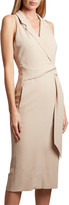 Roland Mouret Lennon Sleeveless Wrapped Blazer Dress