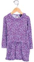 Oscar de la Renta Girls' Floral Print Knit Dress
