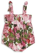 Dolce & Gabbana Baby's Shirred Floral-Print Romper