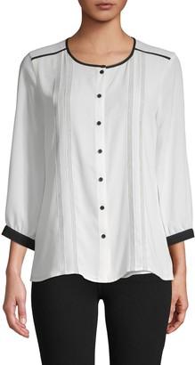 Karl Lagerfeld Paris Three-Quarter Sleeve Top