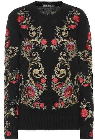 Dolce & Gabbana Embroidered cashmere sweater