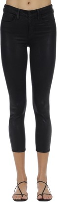 L'Agence Margot Coated High Rise Stretch Jeans