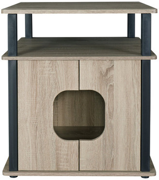 Progressive Furniture Itsy Pet Bedside Table, Dark Taupe