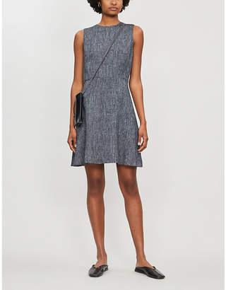 Theory Textured linen-blend woven dress
