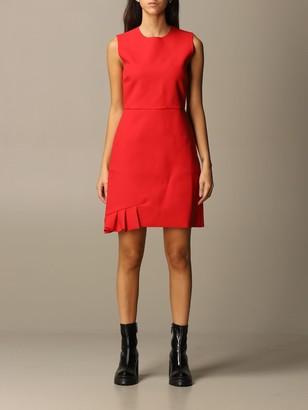MSGM Dress With Asymmetrical Flounce