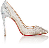 Christian Louboutin Women's Crystal-Embellished Follies Strass Pumps-Silver