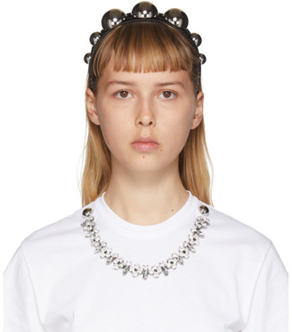 Christopher Kane Black Dome Headband
