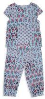 Splendid Patchwork Floral Top and Pants Set