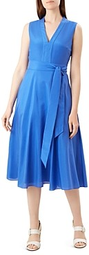 Hobbs London Regina Fit-and-Flare Midi Dress
