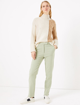 Marks and Spencer Mia Slim Marl Ankle Grazer Trousers