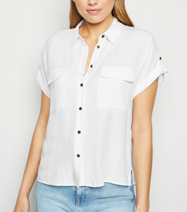 Thumbnail for your product : New Look Pocket Front Short Sleeve Shirt
