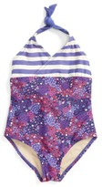 Tea Collection Toddler Girl's Bells Beach One-Piece Swimsuit