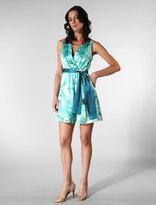 Dara Watercolor Print Dress in Blue