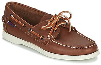 Sebago DOCKSIDES PORTLAND CRAZY H W women's Boat Shoes in Brown