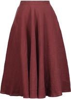 Tomas Maier Pleated linen skirt