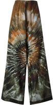 Valentino 'Tie&Dye' palazzo pants - women - Silk - S
