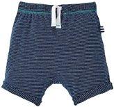 Splendid Indigo Jogger Shorts (Baby) - Dark Stone Stripe - 3-6 Months