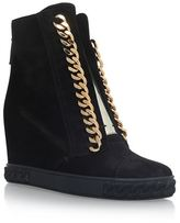 Casadei Chain Trimmed Wedge Sneakers