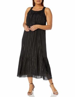 Rachel Roy Women's Plus Size Leo Flounce Maxi Dress