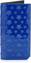 COOPER Neon Blue Patent Large Bifold Wallet with Embossed Stars