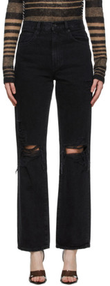 SLVRLAKE Black Distressed London Jeans