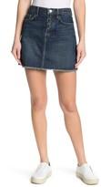 Current/Elliott Frayed Hem Denim Mini Skirt