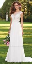 Camille La Vie Caviar Beaded Cap Sleeve Wedding Dress