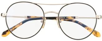 Karen Walker Millo aviator frame glasses