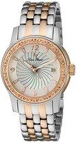 Lucien Piccard Women's 'Merrel' Quartz Stainless Steel Watch, Color:Two Tone (Model: LP-40029-SR-22-MOP)