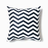 The Well Appointed House Zig Zag Pillow in Navy and White